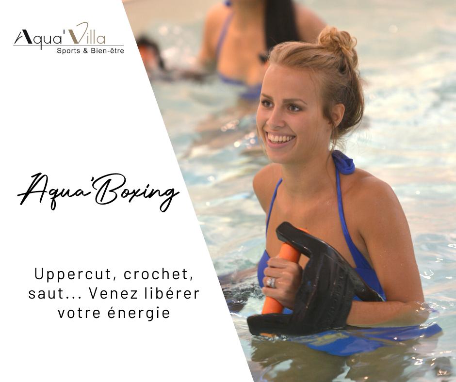 Aquavilla aquaboxing, entrainement de boxe en piscine