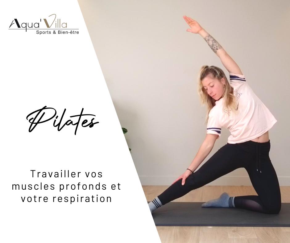 aquavilla pilates, respiration et renforcement musculaire